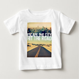 Wellcoda Escape The City Hit The Road Fun Baby T-Shirt
