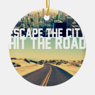 Wellcoda Escape The City Hit The Road Fun Christmas Ornament