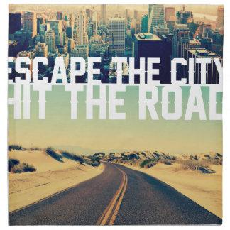 Wellcoda Escape The City Hit The Road Fun Napkin