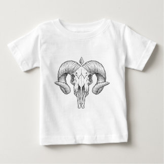 Wellcoda Evil Animal Skull Sacrifice Head Baby T-Shirt