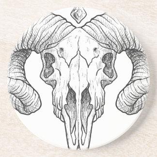 Wellcoda Evil Animal Skull Sacrifice Head Coaster