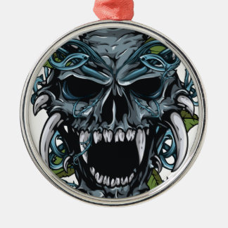 Wellcoda Evil Horror Skull Scary Mask Christmas Ornament