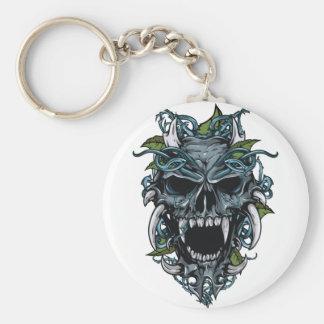 Wellcoda Evil Horror Skull Scary Mask Key Ring