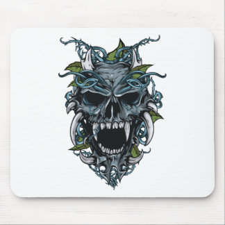 Wellcoda Evil Horror Skull Scary Mask Mouse Pad