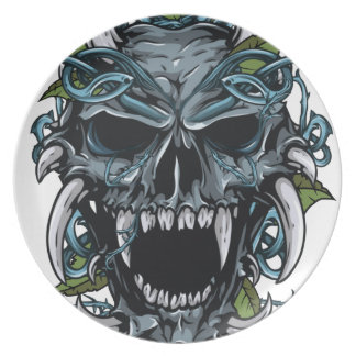 Wellcoda Evil Horror Skull Scary Mask Plate