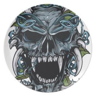 Wellcoda Evil Horror Skull Scary Mask Plates