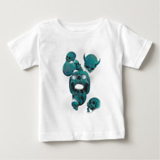 Wellcoda Evil Skull Horror Creepy Face Baby T-Shirt