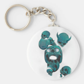 Wellcoda Evil Skull Horror Creepy Face Key Ring