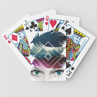 Wellcoda Eye Feather Fantasy Galaxy Sky Bicycle Playing Cards
