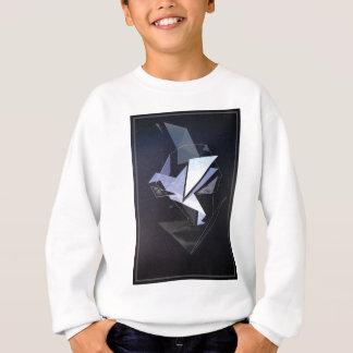 Wellcoda Face Fantasy Origami Head Bird Sweatshirt