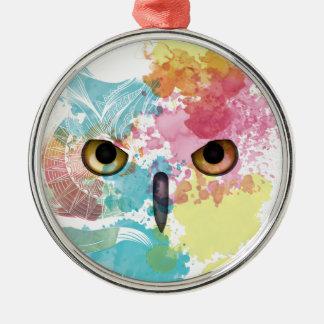 Wellcoda Fantasy Animal Owl Beautiful Eye Christmas Ornament