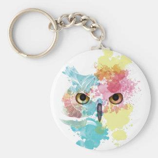 Wellcoda Fantasy Animal Owl Beautiful Eye Key Ring