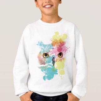 Wellcoda Fantasy Animal Owl Beautiful Eye Sweatshirt