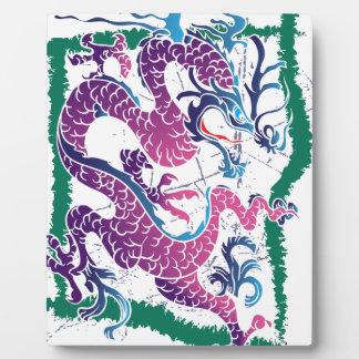Wellcoda Fantasy Dragon China Mythical Plaque