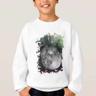 Wellcoda Fantasy Planet World Globe City Sweatshirt