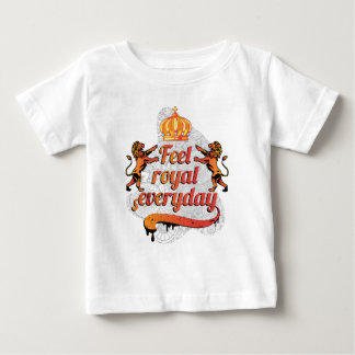 Wellcoda Feel Royal Everyday Crown Lion Baby T-Shirt