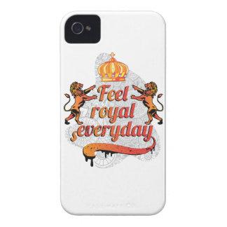 Wellcoda Feel Royal Everyday Crown Lion iPhone 4 Case
