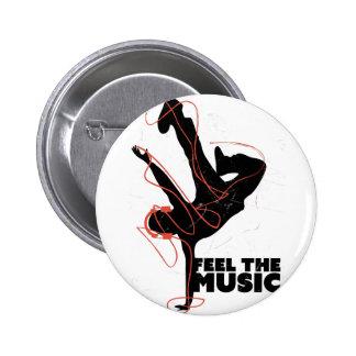 Wellcoda Feel The Music Dance Headphone 6 Cm Round Badge