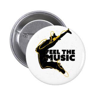 Wellcoda Feel The Music Jump Headphone 6 Cm Round Badge