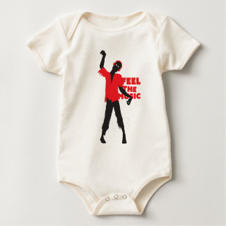 Wellcoda Feel The Music Zombie Headphone Baby Bodysuit