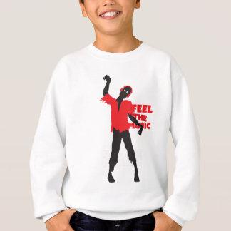 Wellcoda Feel The Music Zombie Headphone Sweatshirt