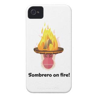 Wellcoda Fiery Monkey New Year Sombrero iPhone 4 Cases