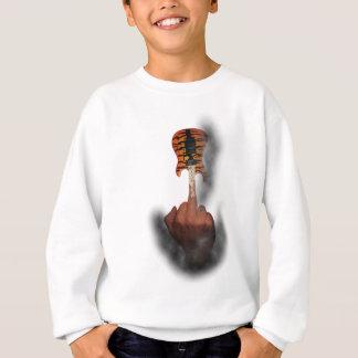 Wellcoda Finger Insult Guitar Music Life Sweatshirt