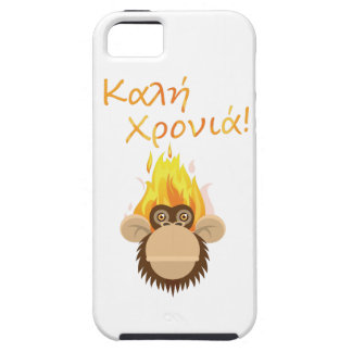 Wellcoda Fire Monkey Greeting Party Happy iPhone 5 Covers