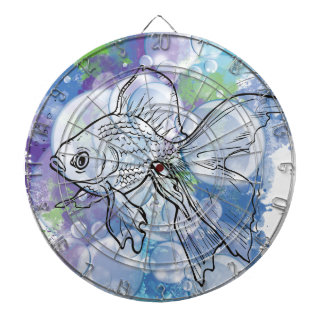 Wellcoda Fish Animal Nature Sea Bubble Dartboard