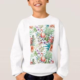 Wellcoda Flamingo Bird Habitat Animal Fun Sweatshirt