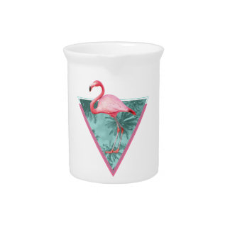 Wellcoda Flamingo Palm Beach Paradise Fun Pitcher