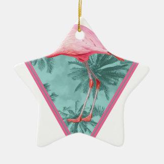 Wellcoda Flamingo Paradise Palm Lake Fun Christmas Ornament