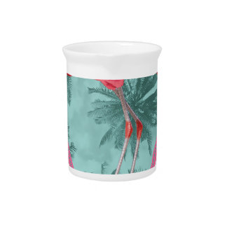 Wellcoda Flamingo Paradise Palm Lake Fun Pitcher