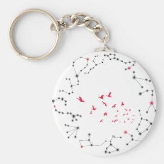 Wellcoda Flock Of Seagull Bird Crazy Print Basic Round Button Key Ring