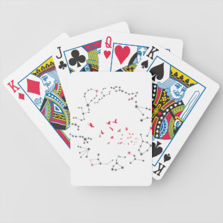 Wellcoda Flock Of Seagull Bird Crazy Print Bicycle Playing Cards