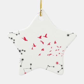 Wellcoda Flock Of Seagull Bird Crazy Print Christmas Ornament
