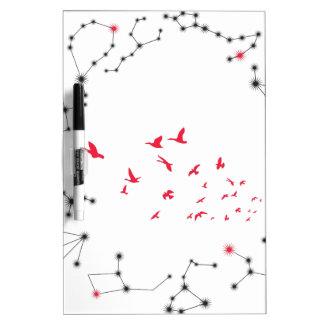 Wellcoda Flock Of Seagull Bird Crazy Print Dry Erase Board