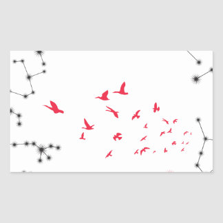 Wellcoda Flock Of Seagull Bird Crazy Print Rectangular Sticker