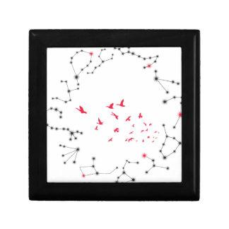 Wellcoda Flock Of Seagull Bird Crazy Print Small Square Gift Box
