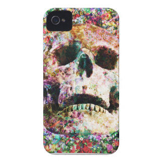 Wellcoda Flower Bed Skull Life Grave Yard Case-Mate iPhone 4 Cases