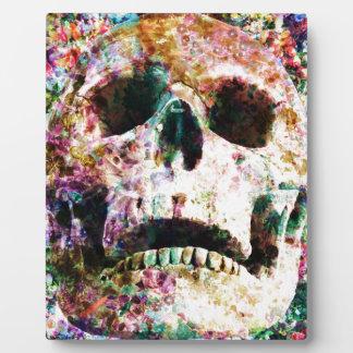 Wellcoda Flower Bed Skull Life Grave Yard Plaque