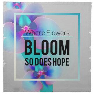 Wellcoda Flower Bloom And Hope Happy Time Printed Napkin