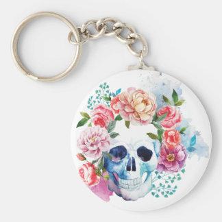 Wellcoda Flower Dead Bed Skull Grave Yard Key Ring