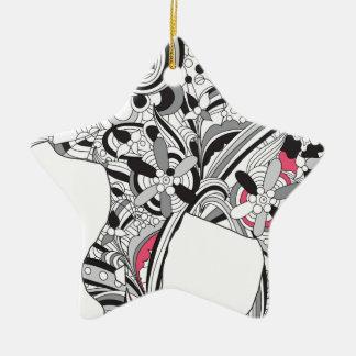 Wellcoda Flower Power Elephant Crazy Print Christmas Ornament