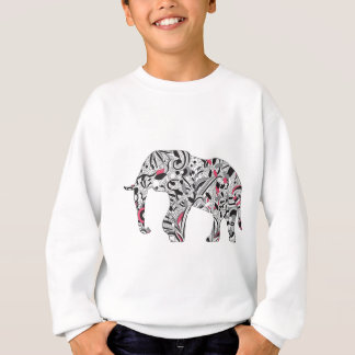 Wellcoda Flower Power Elephant Crazy Print Sweatshirt