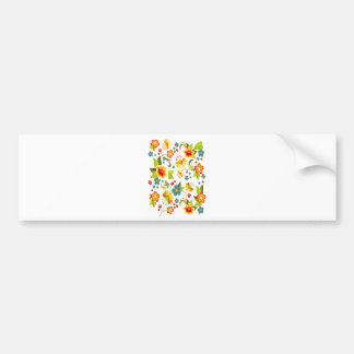 Wellcoda Flower Power Garden Yard Life Fun Bumper Sticker
