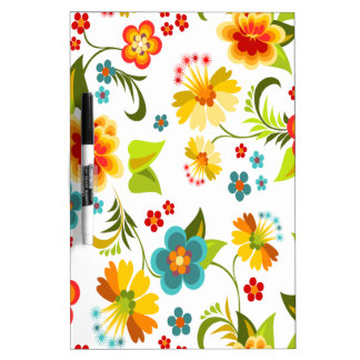 Wellcoda Flower Power Garden Yard Life Fun Dry-Erase Board