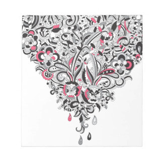 Wellcoda Flower Power Heart Petal Rose Fun Notepads