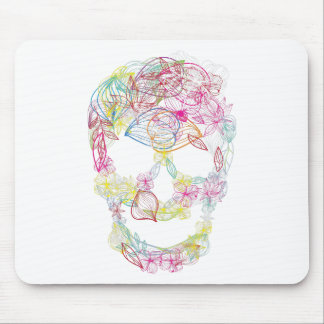 Wellcoda Flower Skull Scary Burial Ground Mouse Pad