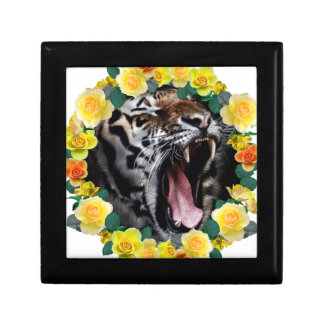 Wellcoda Flower Tiger Wild Cat Nature Law Gift Box